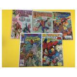 5 Assorted Spiderman Comics