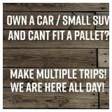 Own a Car or SUV and cant fit a pallet? Make