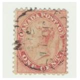 Rare Canada Postage Stamp, 1859