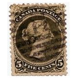 Dominion Of Canada Postage Stamp, 1868-78