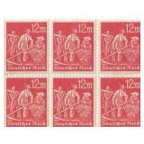 Unused 12m Deutches Reich Block Of 6 Stamps