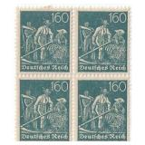 Unused 160 Deutches Reich Block Of 4 Stamps