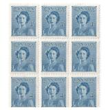 Canada Unused Block Of 9 Four Cent Stamps