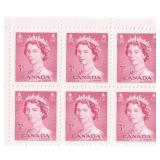 Canada Unused Block Of 6 Three Cent Stamps