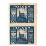 Polska Pair Of Used Stamps 10 2