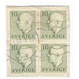 Sverige 10 Guildien Stamp Block