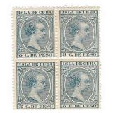 Cuba 5 Desd Stamp Block Or 4 Unused