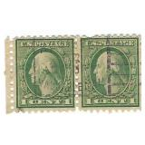 USA Pair Of One Cent Stamps