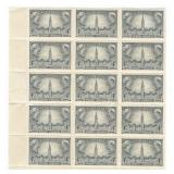 Canada Block Of 15 Unused Stamps 4 Cents