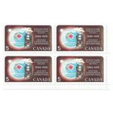 Canada Stamp Block Of 4 Unused 1965-1974
