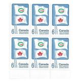 Canada Unused Stamp Block Of 6 Canada Games