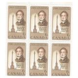 Canada Unused Stamp Block Of 6 200 Anniversary