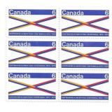 Canada Unused Stamp Block Of 6 1870-1970