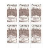 Stamp Block of 6 Unused 6 Cent Stamps (1793)