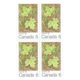 Stamp Block of 4 Unused 6 Cent Stamps (Summer)