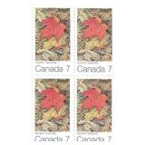 Stamp Block of 4 Unused 6 Cent Stamps (Autumn)