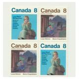 Canada Block of 4 Unused 8 Cent Stamps (Lucy)