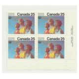 Canada Block of 25 Cent Unused Stamps