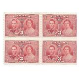 Canada Unused Block Of 4 Three Cent Stamps