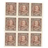Canada Unused Block Of 6 Four Cent Stamps