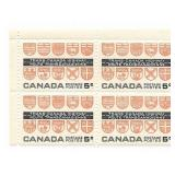 Trans Canada Stamp Block Of 5 Cent Unused