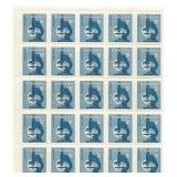 Canada Stamp Block Of 25 Unused 5 Cent