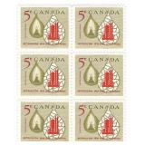 Canada Stamp Block Of 6 Unused 5 Cent Petroleum