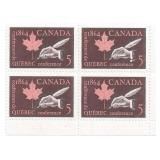 Canada Unused Stamp Block Of 4 1864