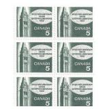 Canada Unused Stamp Block Of 4 Union