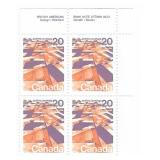 Canada Blocks of 20 Cent Unused Stamps