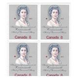 Canada Blocks of 8 Cent Unused Large Stamps Queen