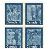 Canada Blocks of 8 Cent Unused Stamps