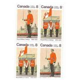 Canada Block of 8 Cent Unused Stamps