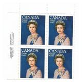Canada Block of 25 Cent Unused Stamps (Queen)