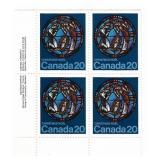 Canada Block of 20 Cent Unused Stamps (Xmas)