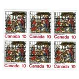 Canada Block of 10 Cent Unused Stamps (Xmas)