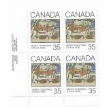 Canada Block of 35 Cent Unused Stamps (Xmas)