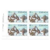 Rare Canada Block of 1 Dollar Stamps
