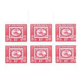 Canada Block Of 6 Fifteen Cent Stamps