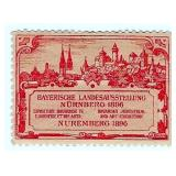 1897 Exposition Rare Large Stamp Nuremberg
