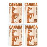 Canada Block Of 4 Unused Stamps 50 Cent