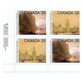 Canada Block of 35 Cent Unused Stamps (royal)