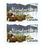 Rare Canada Pair of 1 Dollar Stamps