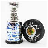 Miniature Stanley Cup Autographed By Red Kelly,