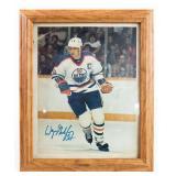 Vintage Wayne Gretzky Autographed Framed