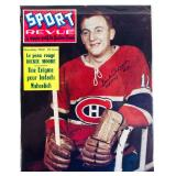 Sport Revue Magazine Autographed By Dickie Moore