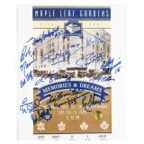 Maple Leafs Garden Final Game Print Autographed