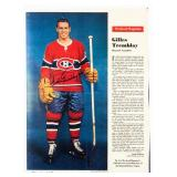 Gilles Tremblay Autographed Weekend Magazine Page