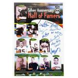 10 autographed Silver Anniversary Hall Of Famers
