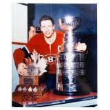 Jean Beliveau Autographed Montreal Canadians